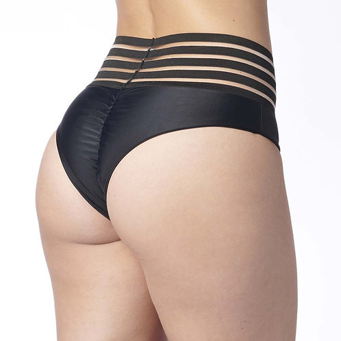 Vekker LA Catalina Bottoms in solid Black back view