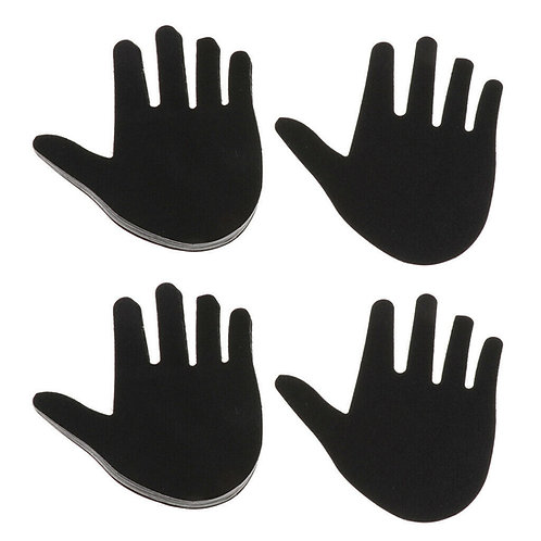 Black Hands Nipple Pasties - 1 x Pair