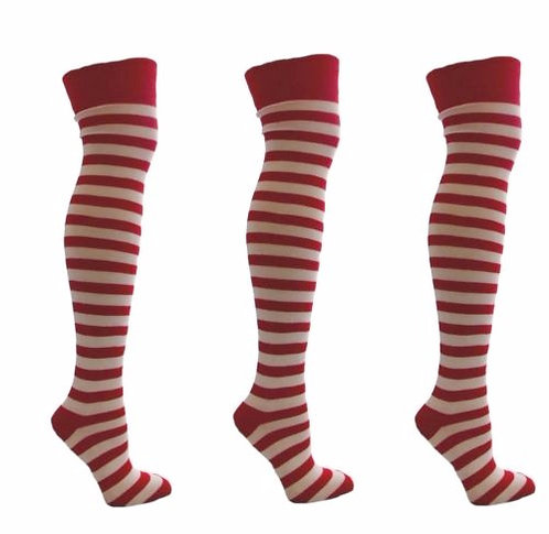 Stripy Knitted Over The Knee Socks