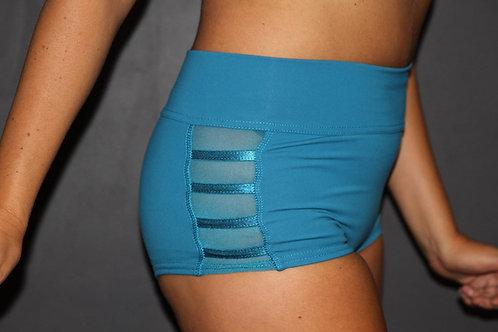 Rarr Designs - Studio Mesh Highwaisted Shorts - Ocean