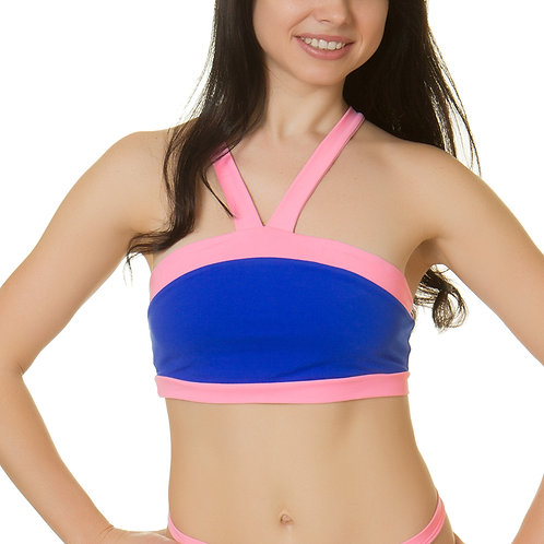Pole Candy - Xenia Top - Electric Blue Pink