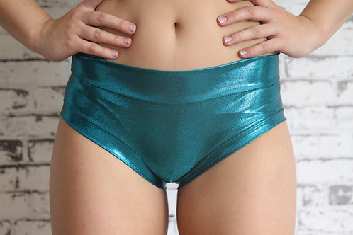 Rarr Designs - Naughty Fit Shorts - Jade Sparkle
