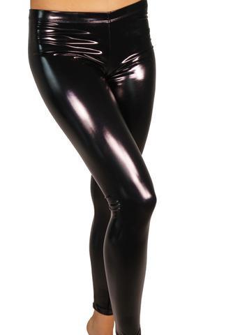 Cleo - Heroine Liquid Vinyl Leggings - Regular Fit - Black