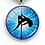 Thumbnail: PSP - Blue Star Burst - Pole Dancer Heart Key Ring