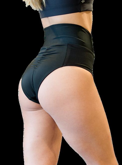 Vekker LA High Waisted Shorts Black side view