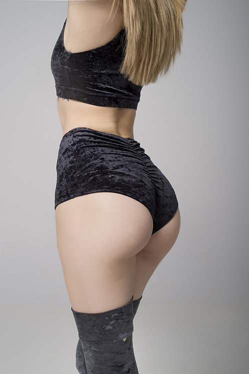 RAD - Eve Shorts - Black Velvet