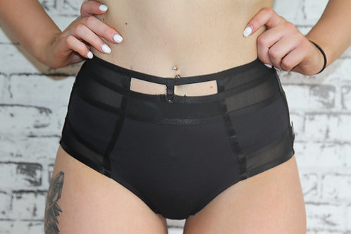 Rarr Designs - Seduce Highwaisted Mesh Shorts - Black