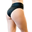 Side and booty view of the Vekker LA High Waisted Shorts in Black