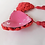 Thumbnail: Rose Heart Nipple Tassel Pasties - 1 x Pair