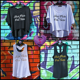 Collage of Pole Sweet Pole Slogan Tops