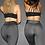 Thumbnail: Rarr - Scrunch Bum Full Length Gym Leggings - Dark Grey Marle