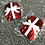 Thumbnail: Christmas Nipple Pasties - Sequin Presents with White Bow