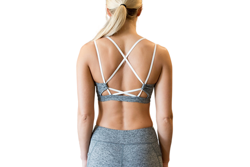 Vekker LA Grey Ultra Soft Infinity Bra Elastic Back Detail