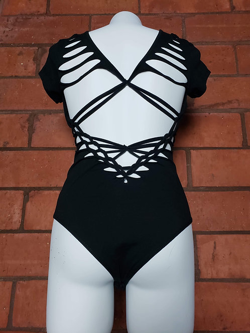 Twisted Movement Be Bold Body Suit Black