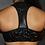 Thumbnail: Rarr - Black Shattered Plunge Sports Bra