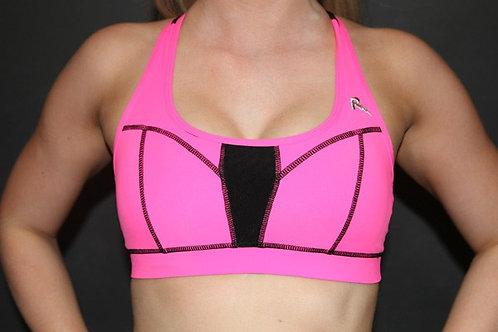 Rarr - Hot Pink Power Mesh Sports Bra