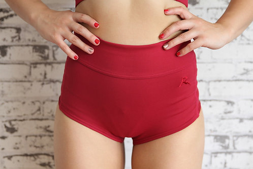 Rarr Designs Berry Studio Mesh Highwaisted Shorts Front View