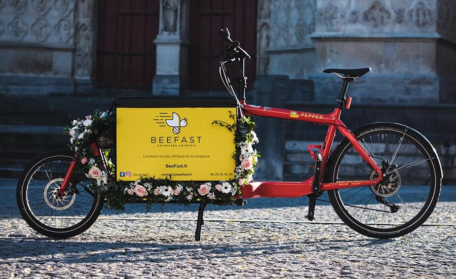 Livraisons à vélo cargo : service aux entreprises amiénoises