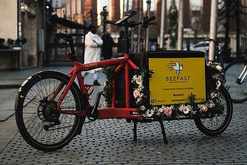 Service de livraison à vélo à Amiens : Beefast