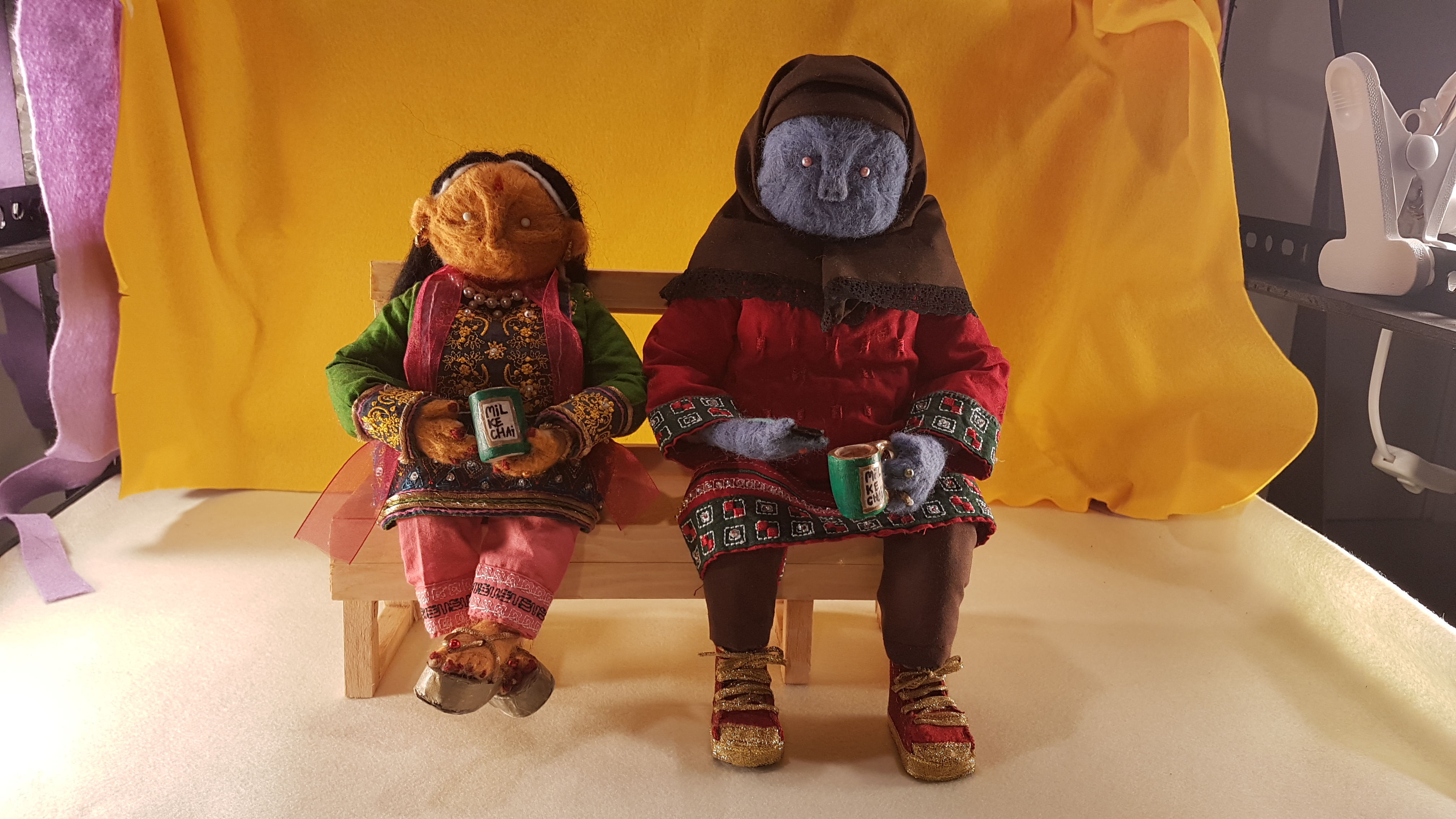Puppets from Mil Ke Chai promo