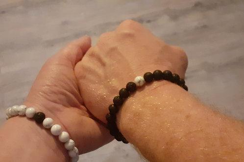 Duo de bracelets homme et femme