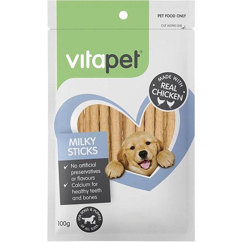 Vitapet Jerhigh Treat Milk Sticks 100g
