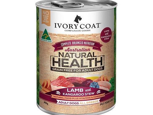 Ivory Coat Kangaroo Stew with Lamb Adult Dog 400g Can