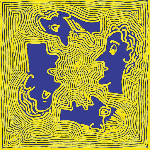 אנשים בעולם - צהוב על כחול