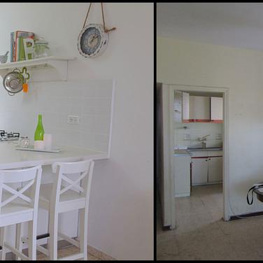 מטבח לפני ואחרי