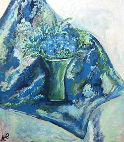 פרחים בכחול