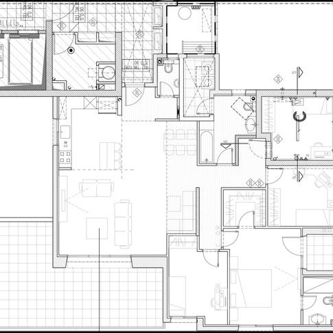 תכנית הדירה לפני