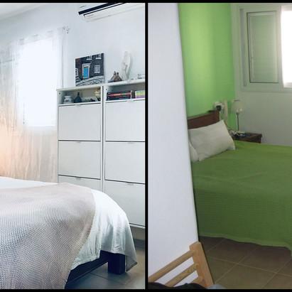 הום סטיילינג לחדר הורים - לפני ואחרי