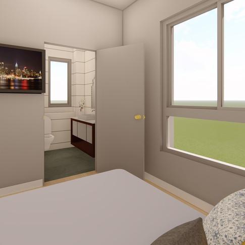 חדר שינה הורים - הדמיה