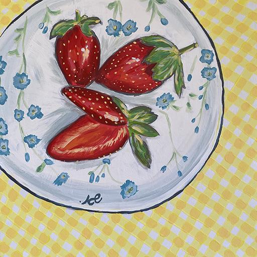 צלחת תותים