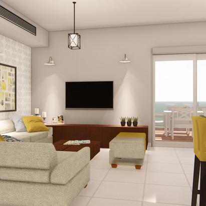 חדר מגורים - הדמיה
