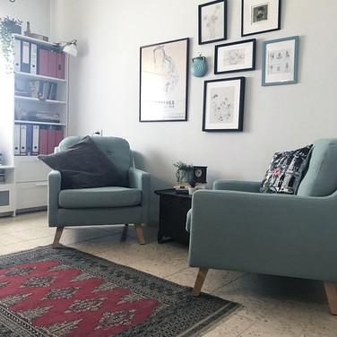 אזור ישיבה וספריה
