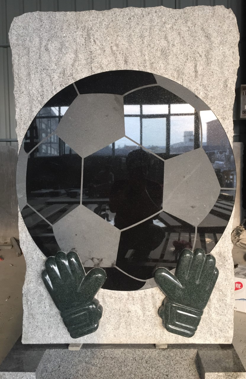 Football Goalkeeper Headstone