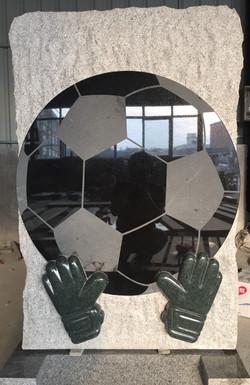 Football Goalkeeper Headstone