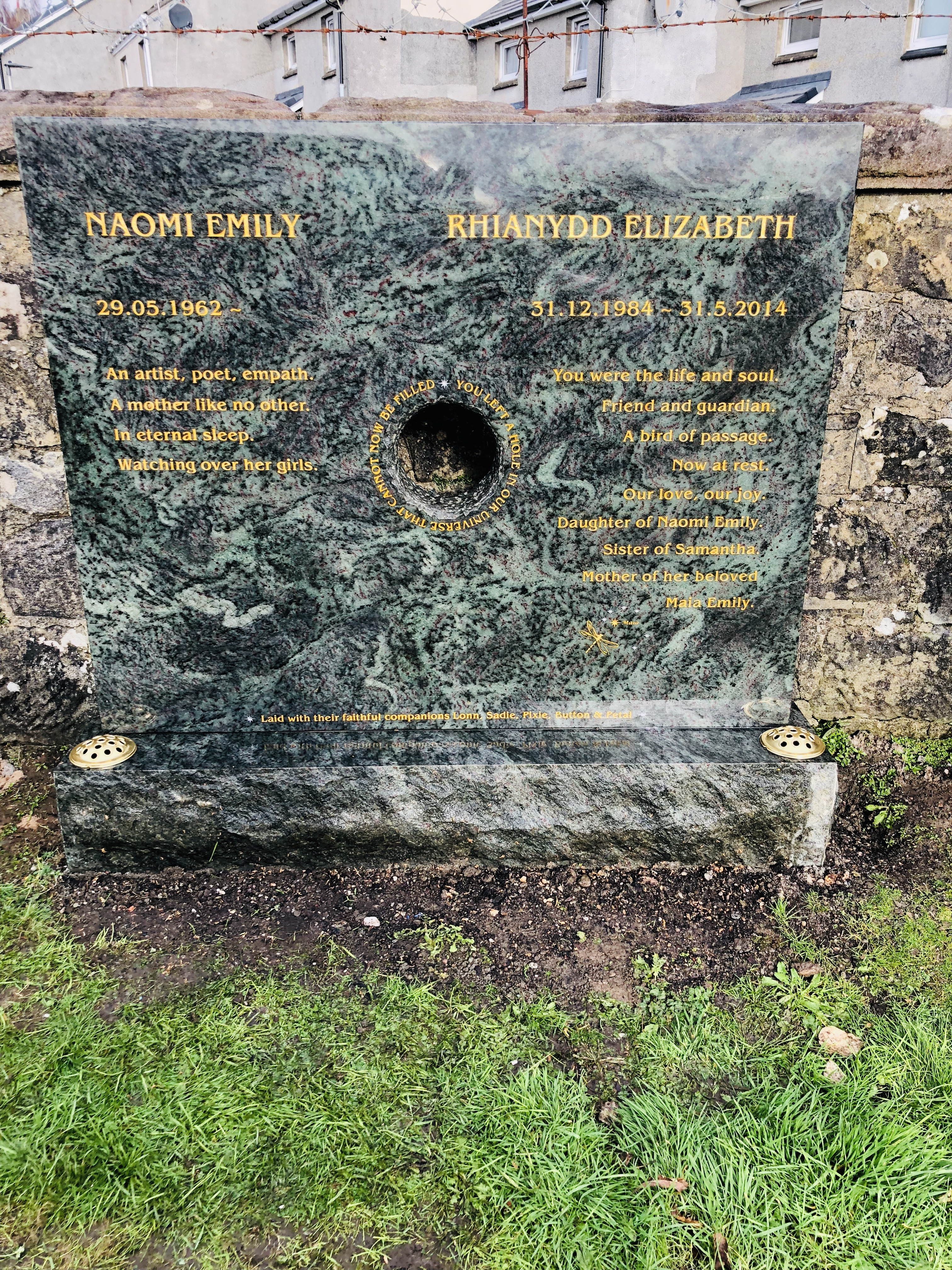 Bullethole gravestone