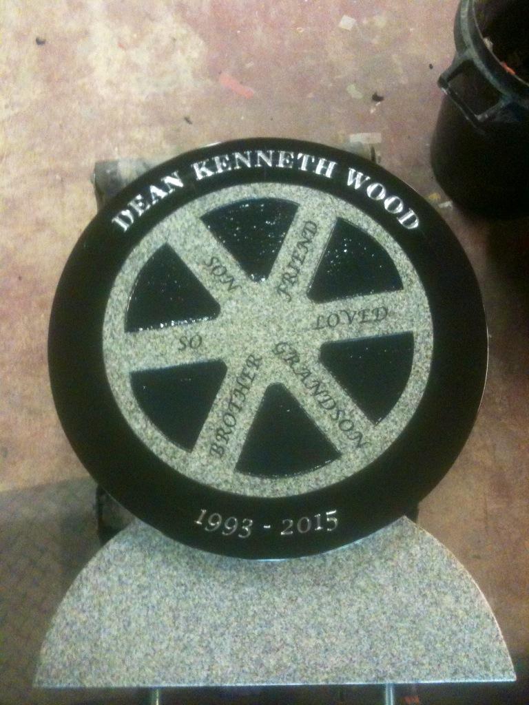 Wheel Headstone