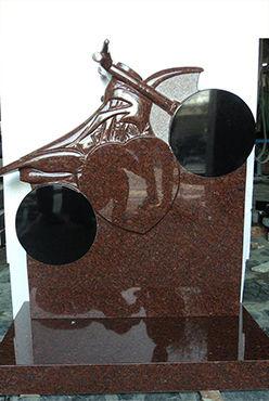 Motorbike Headstone