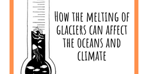 How the melting of glaciers can affect the oceans and climate