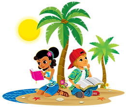 Girl-and-Boy-with-Bibles-on-Beach.png