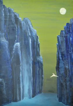 Between cliffs
