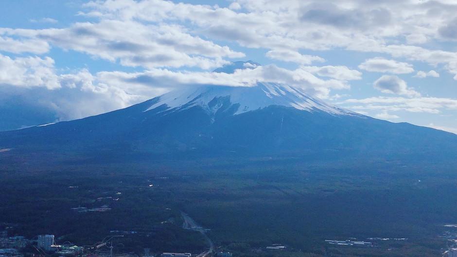 Higher, closer to Mr.Fuji
