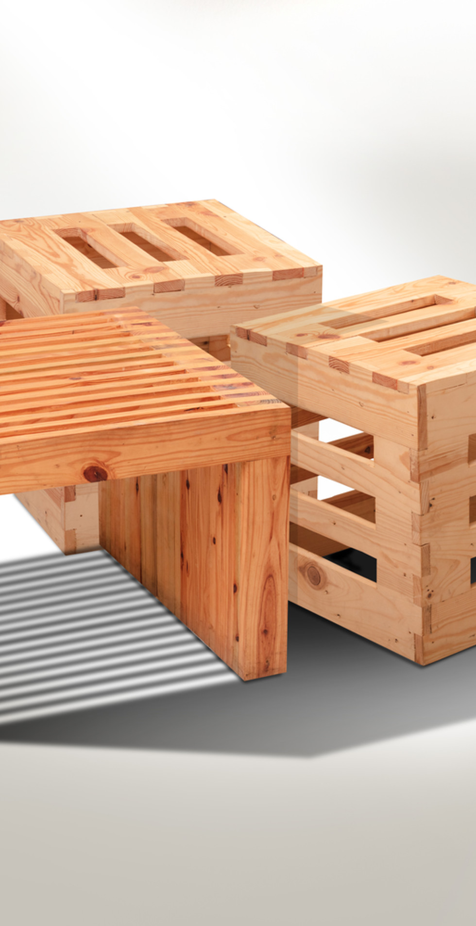 CUBE STOOLS & TABLE