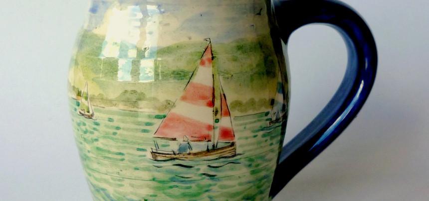 Lake Boats curvy mug
