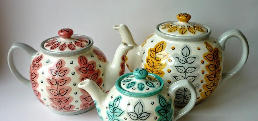 New Leaf teapots