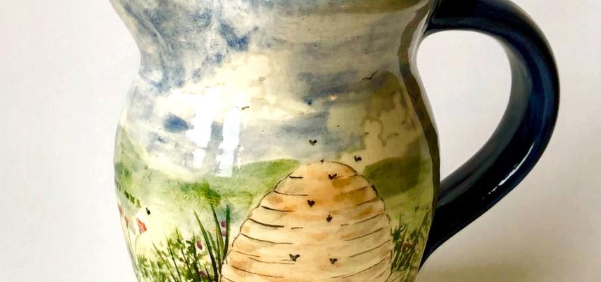 Skep hive cream jug