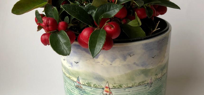 Lake Boats plant pot holder